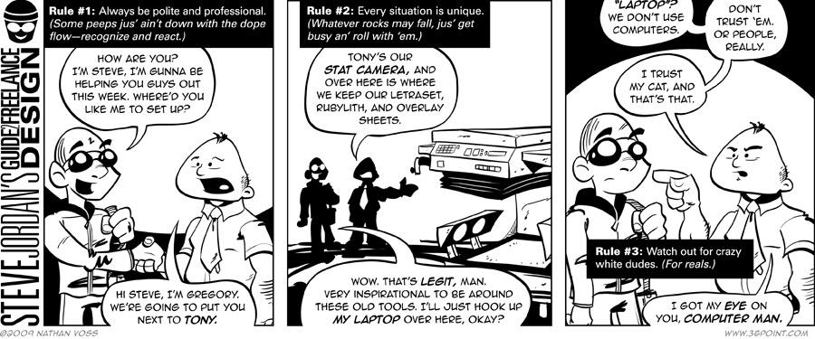 1PT.Rule Comic: Steve Jordan's Guide 2 Freelance Design, In-House Assignments