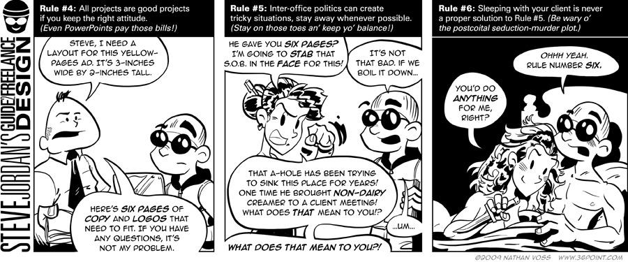 1PT.Rule Comic: Steve Jordan's Guide 2 Freelance Design, In-House Assignments, Continued