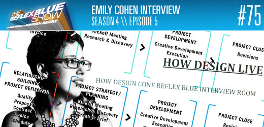 Emily Cohen Interview on The Reflex Blue Show graphic design podcast