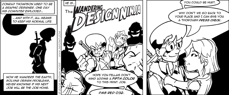 1PT.Rule Comic: The Wandering Design Ninja, Part 1
