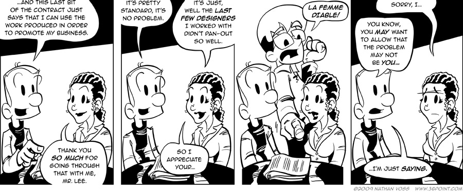 1PT.Rule Comic: Yes, He Speaks French. Fluently.